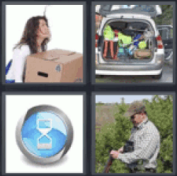4 pics 1 word girl holding heavy box