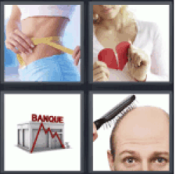 4 pics 1 word girl breaking a red heart