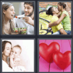 4 pics 1 word red hearts