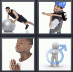 4 pics 1 word man exercising