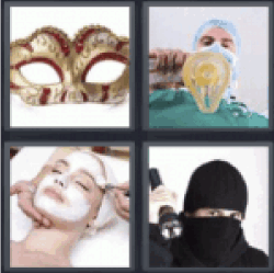 4 pics 1 word facial treatment