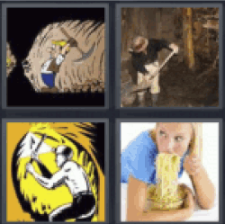 4 Pics 1 Word Man in cave