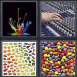 4 pics 1 word splash of colors