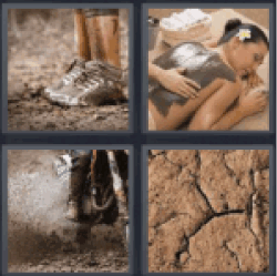 4 Pics 1 Word clay massage