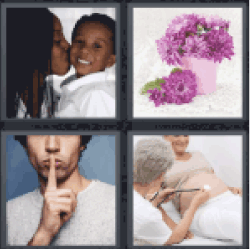 4 Pics 1 Word Black mother and son