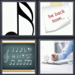 4 pics 1 word musical notes