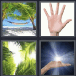 4 pics 1 word hammock on beach