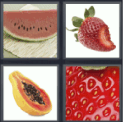 4 Pics 1 Word watermelon