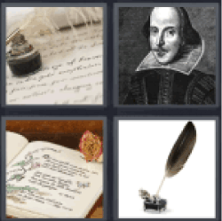4 Pics 1 Word Old writing