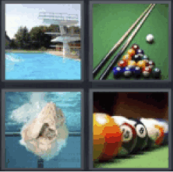 4 pics 1 word diving board pool table