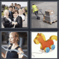 4 pics 1 word people pulling rope