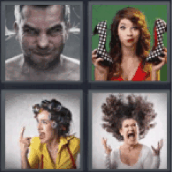4 pics 1 word man with ears steaming