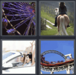 4 Pics 1 Word roller coaster