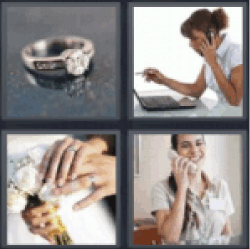 4 Pics 1 Word Engagement ring