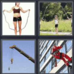 4 pics 1 word woman jumping