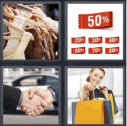 4 Pics 1 Word clothing store