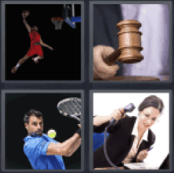 4 Pics 1 Word basketball player