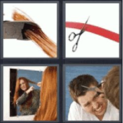 4 pics 1 word scissors cutting hair