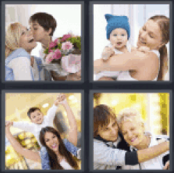 4 Pics 1 Word giving flowers