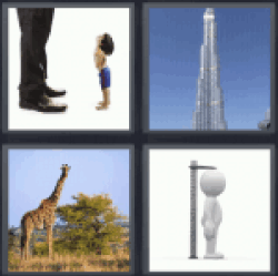 4 Pics 1 Word building giraffe