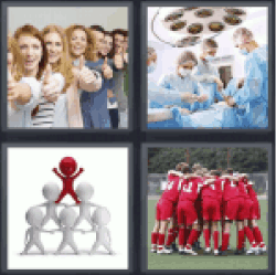 4 Pics 1 Word People with thumbs up