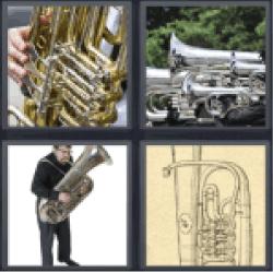 4 Pics 1 Word wind instruments