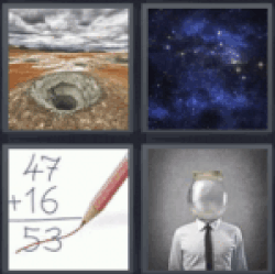 4 Pics 1 Word hole in the ground