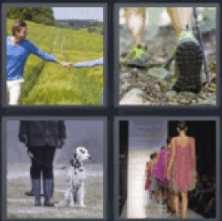 4 pics 1 word holding hands in field