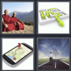 4 Pics 1 Word buddhists