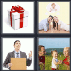 4 Pics 1 Word gift box couple