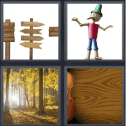 4-pics-1-word-wood