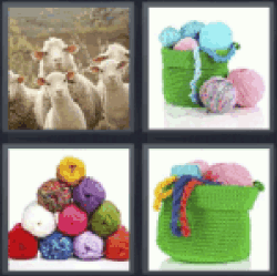 4 Pics 1 Word flock of sheep