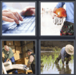 4 Pics 1 Word computer keyboard