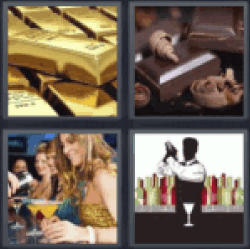4 pics 1 word bars of gold