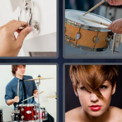 4 pics 1 word drum woman