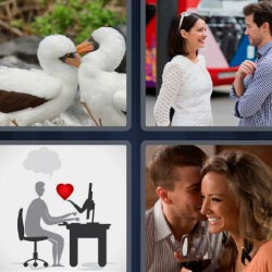 4 pics 1 word love couple