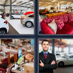 4 pics 1 word car store