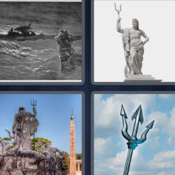 4 pics 1 word Trident statue