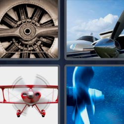 4 pics 1 word Red plane