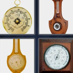 4 pics 1 word Chronometer wall clock