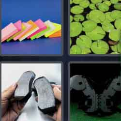 4 pics 1 word colorful notes