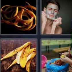 4 pics 1 word banana skin
