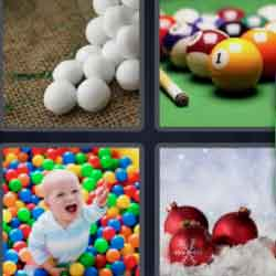 4 pics 1 word pool balls