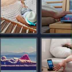 4 pics 1 word sunbathing