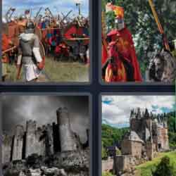 4 pics 1 word castle soldiers